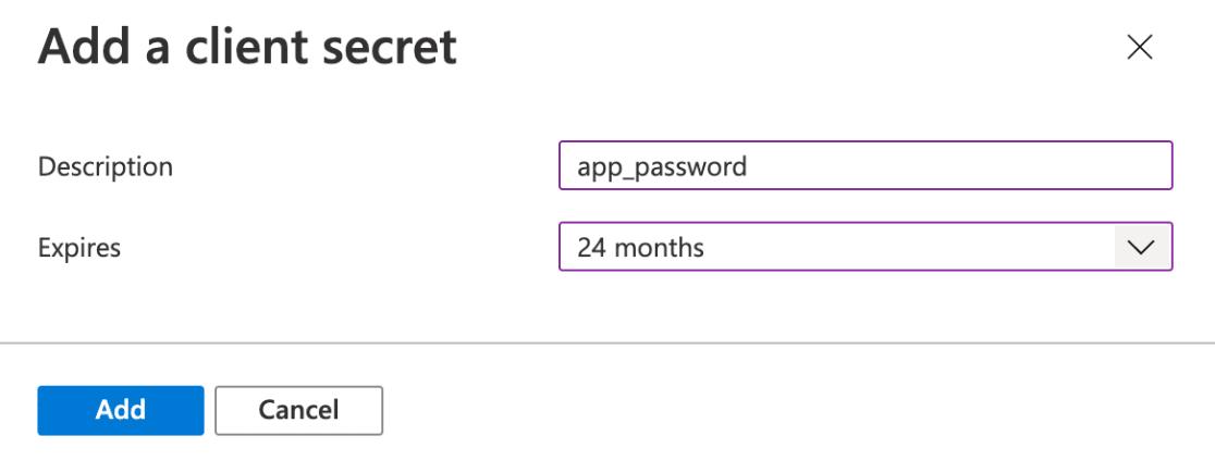 Add a client secret