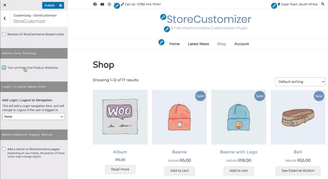StoreCustomizer plugin