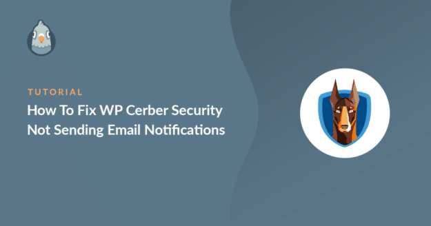 how to fix wp cerber security not sending email notifications