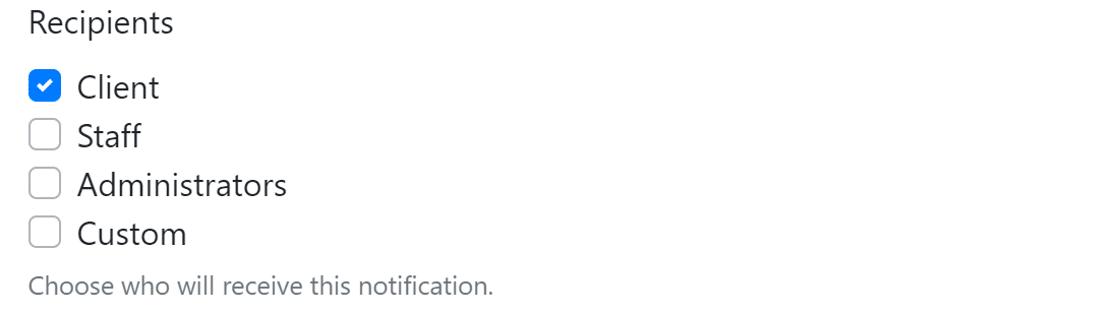notification recipient