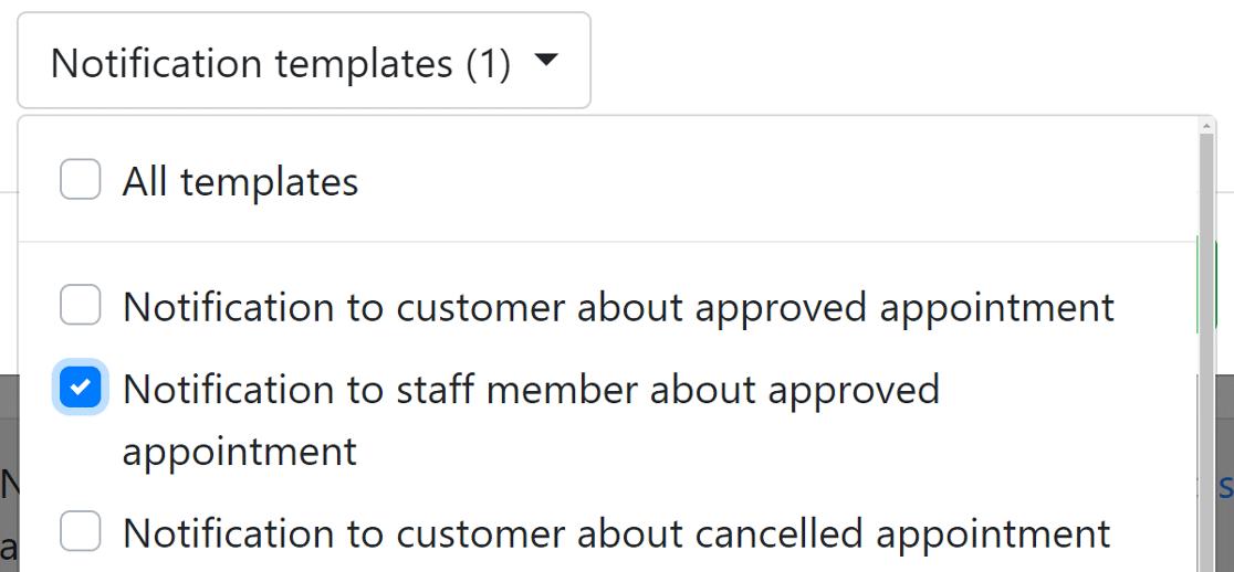 notification template