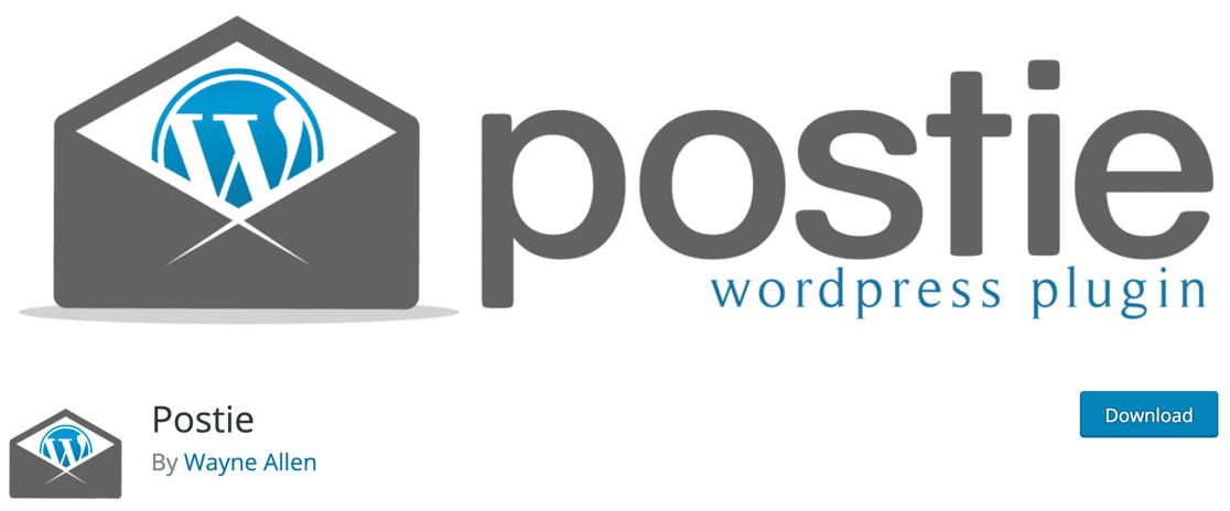 Postie post by email plugin for WordPress