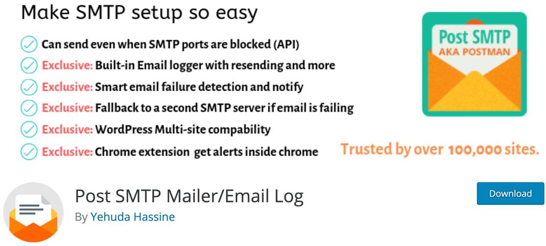 Postman/ Post SMTP email plugin for WordPress