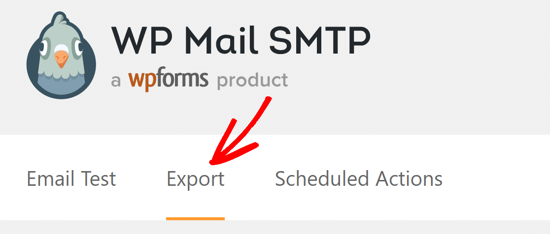Export tab in WP mail SMTP