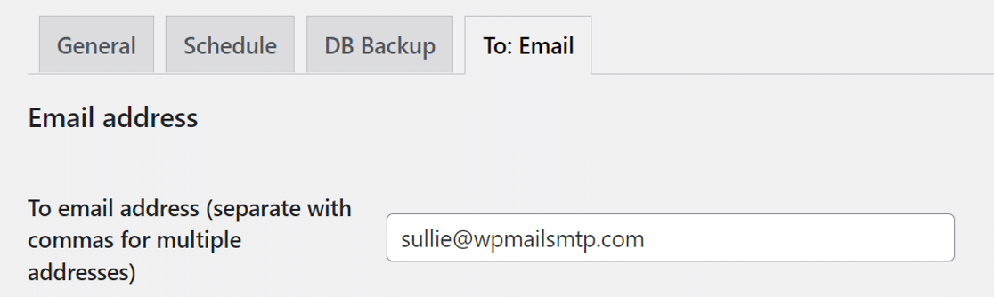 BackWPup send email to