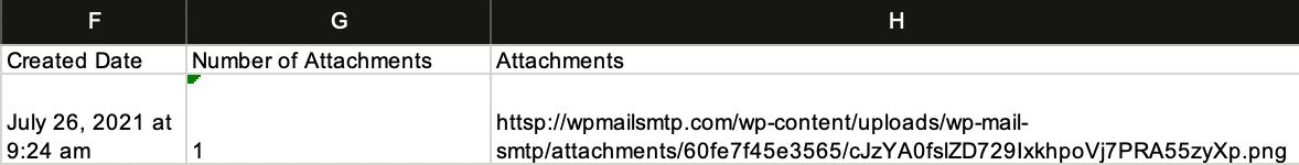 Email attachment xlsx