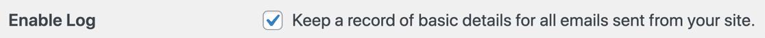 Enable WordPress email logging
