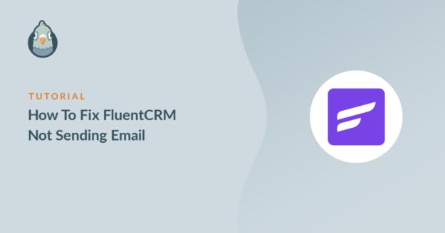 FluentCRM not sending email
