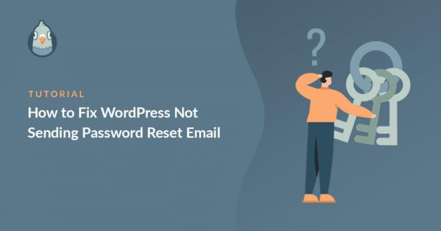 how to fix wordpress not sending password reset email