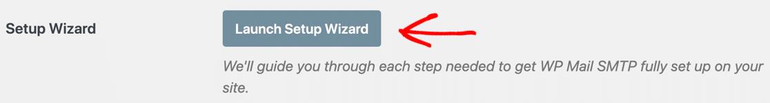 Launch Setup Wizard button