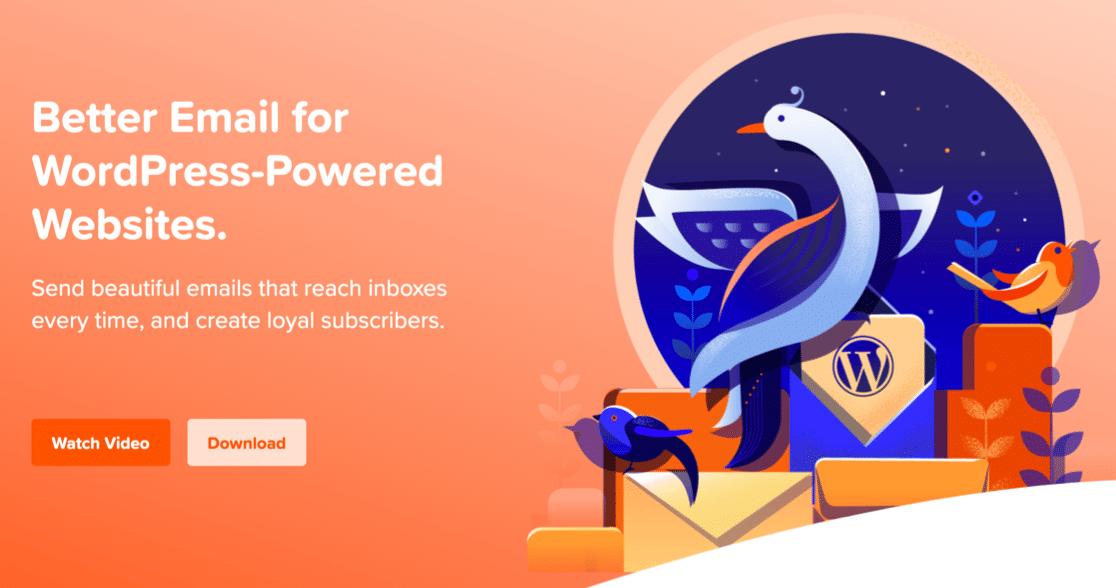 MailPoet homepage