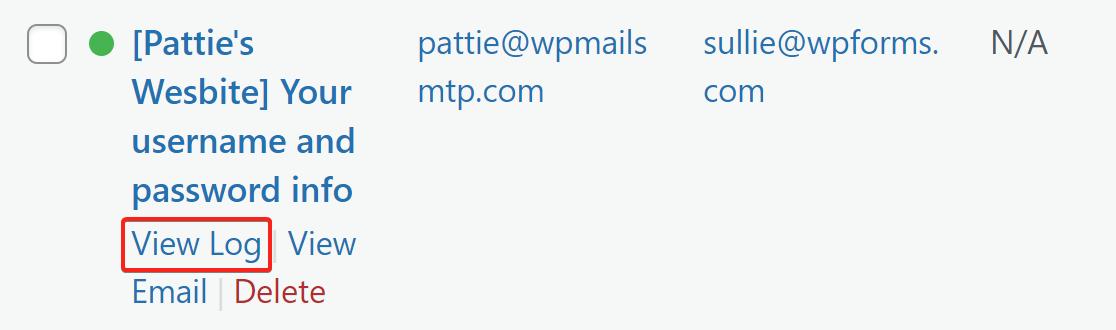 new user registration email log