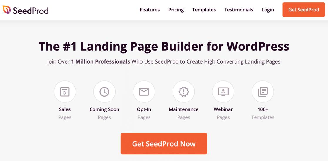 SeedProd homepage
