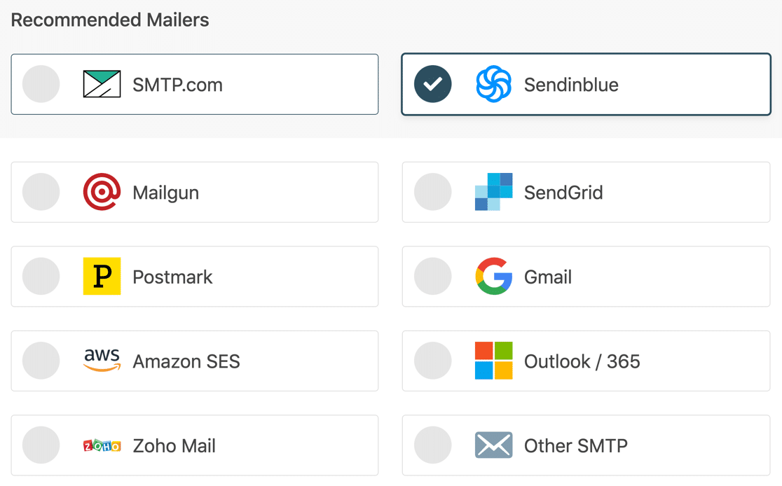 WP Mail SMTP email providers