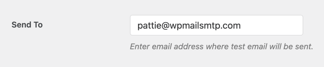 Send to email setting