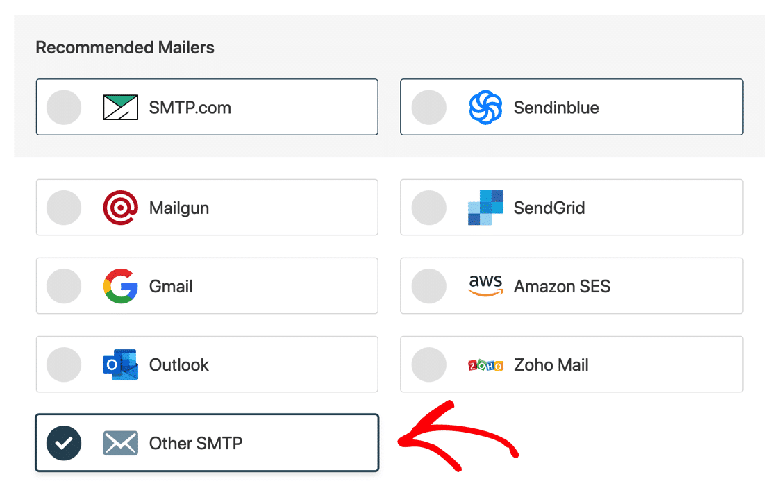 Select Other SMTP in WP Mail SMTP