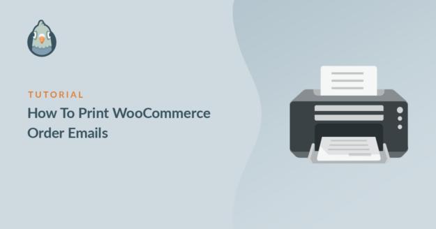 Print WooCommerce order emails