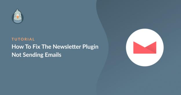 The Newsletter Plugin not sending emails