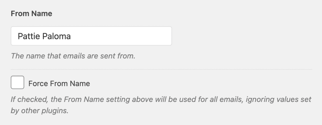 Adjust From Name in WP Mail SMTP settings