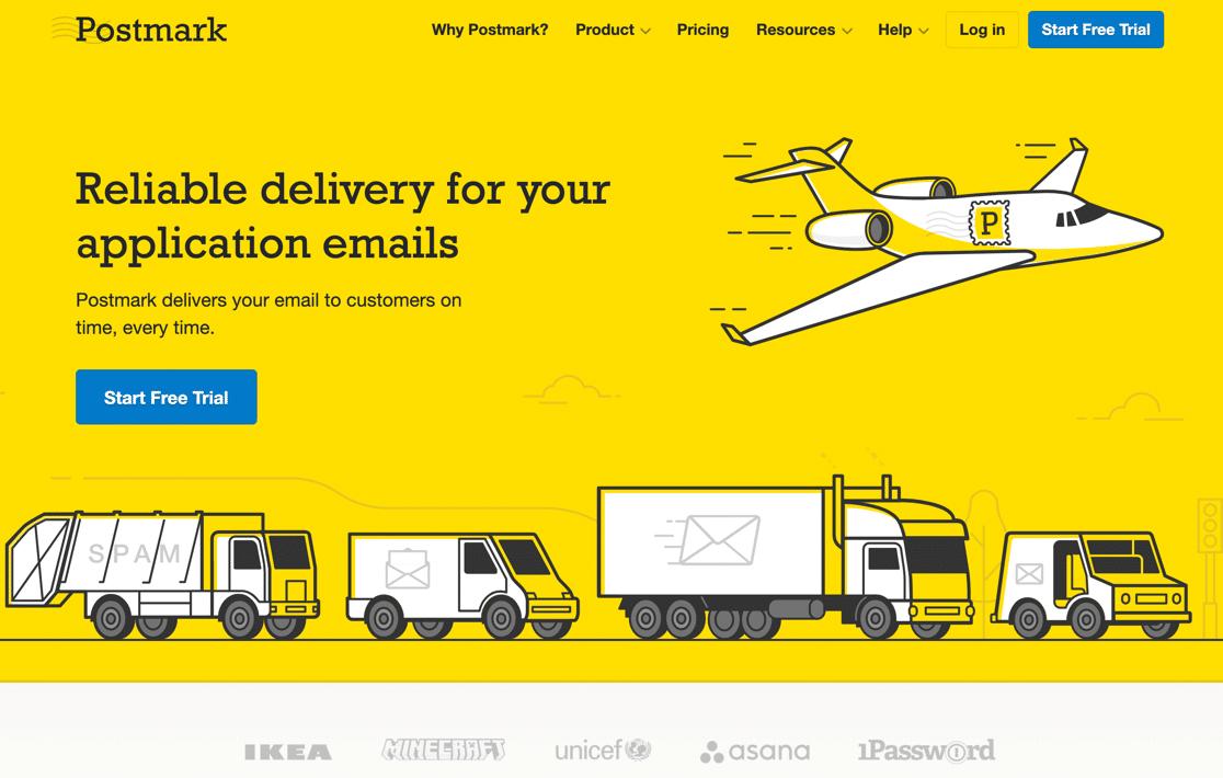 Postmark homepage
