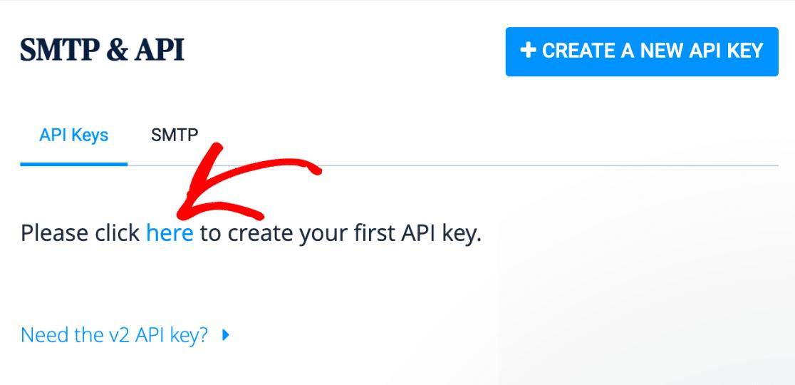 Click to create API key