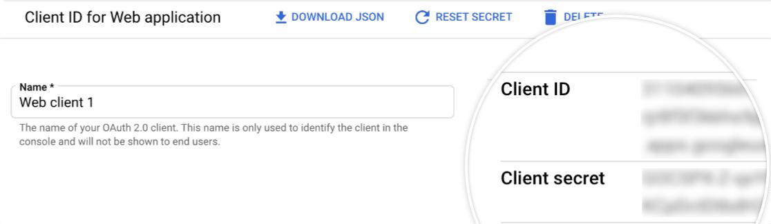 Client ID and client secret