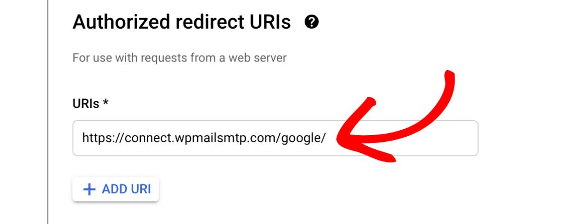 Input for URI