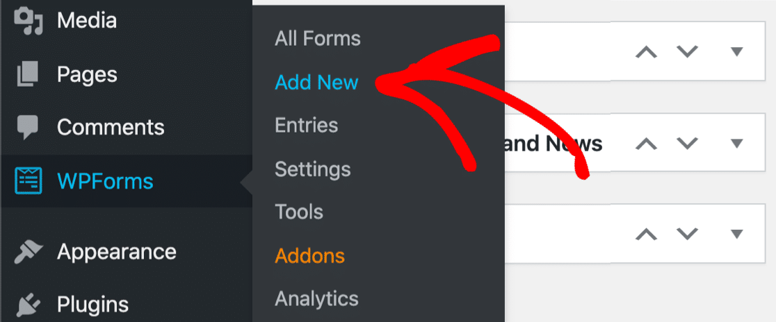 Add new form in WPForms